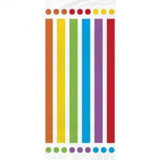 Rainbow Stripe Cello Gift Bags (20)