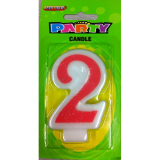 Birthday Candle Pink Number - 2