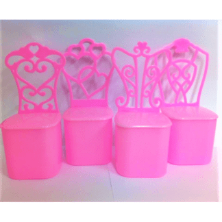 pink favour boxes princess chair shape