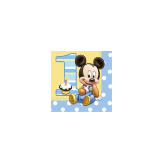 Disney Mickey's 1st Birthday Luncheon Napkins (16)