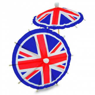 Union Jack Flag Drink Umbrellas (20)