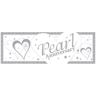 30th Pearl Wedding Anniversary Giant Banner