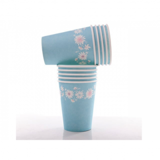 Daisy 'Sundays' Paper Cups (10) Blue