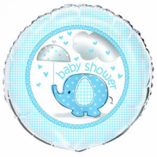 Umbrellaphants Baby Shower Foil Balloon - Blue