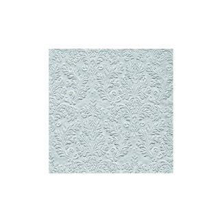Silver Damask Embossed Luncheon Napkins (16)