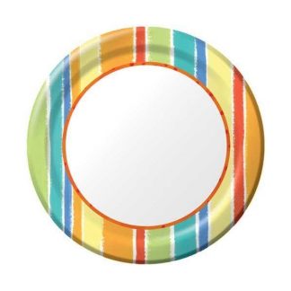 Sunshine Stripes - Paper Plate (8)