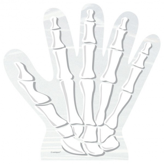 Skeleton Hand Cellophane Bags (10)