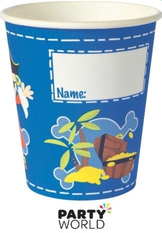 captain jack pirate party cups