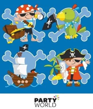 captain jack pirate party napkins