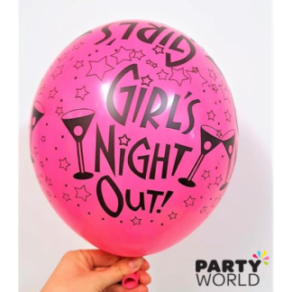 Pink Girls Night Out Balloons (6)