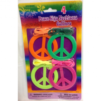 Peace Sign Necklaces (4)