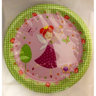 Pink Fairy Paper Plates (10)