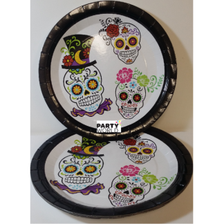 Day Of The Dead Paper Plates 9in (8)