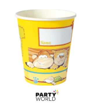 jungle themed paper cups