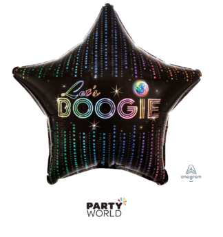 lets boogie disco foil balloon