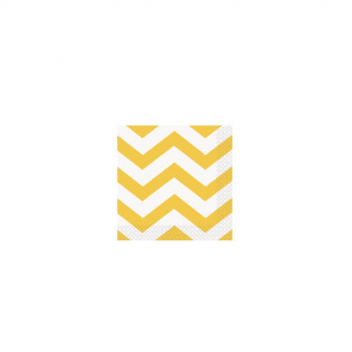 Chevron Beverage Napkins (16) - SUNFLOWER YELLOW