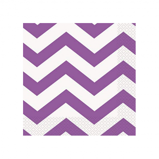 Chevron Beverage Napkins (16) - PRETTY PURPLE