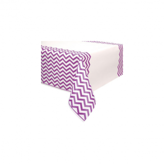 Chevron Plastic Tablecover - PRETTY PURPLE
