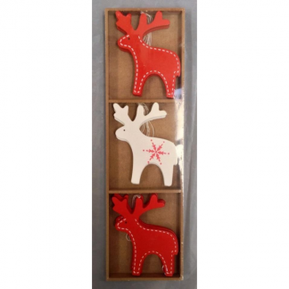 Wooden Reindeer Ornaments (9)
