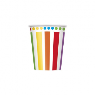 Rainbow Birthday Paper Cups (8)