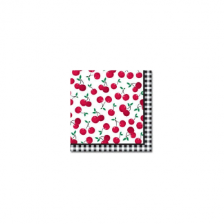 Cherry Gingham Luncheon Napkins (16)