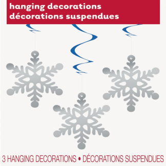 Hanging Swirl Snowflake Decorations (3)