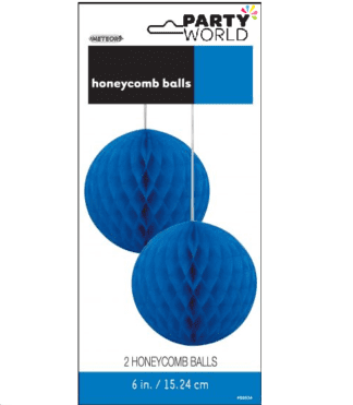blue honeycomb balls