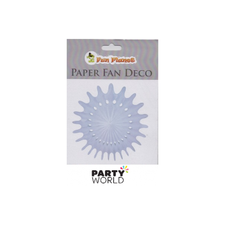 White Paper Fan Deco - 40cm