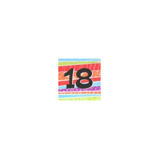 18th Birthday Stripe Napkins (25)
