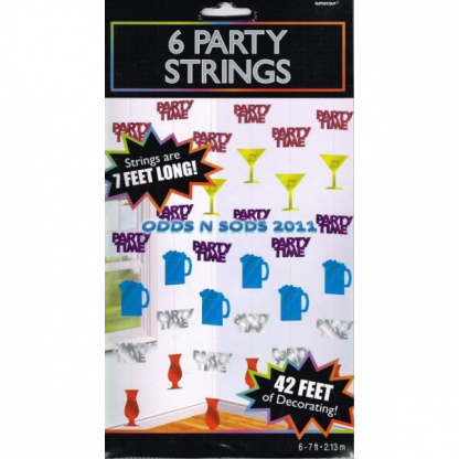 Party Time Hanging String Decorations (6)