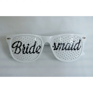White Bridesmaid Mesh Glasses
