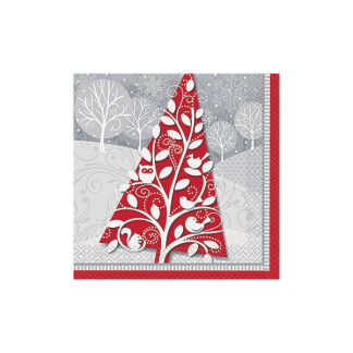 Christmas Frosted Holiday Luncheon Napkins (20)