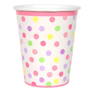 Baby Girl Stork - Dots Cups (8)