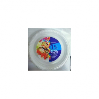 White Plastic Party Plates (15) 22.5cm