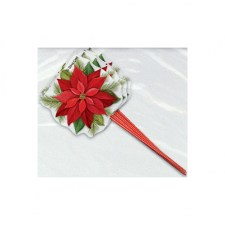 Christmas Poinsettia Flower Picks (8)