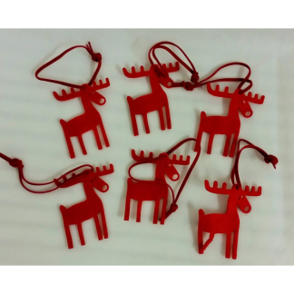 Felt Reindeer Christmas Decorations (6)