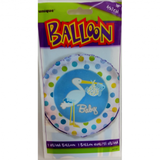 Baby Boy Stork Blue Foil Balloon