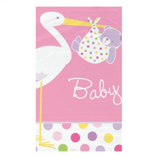 Baby Girl Pink Stork Tablecover