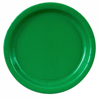Emerald Green Paper Plates 7in (8)