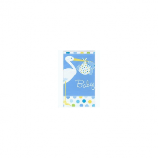 Baby Boy Blue Stork Tablecover