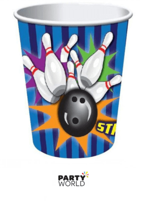 strike bowling paper cups