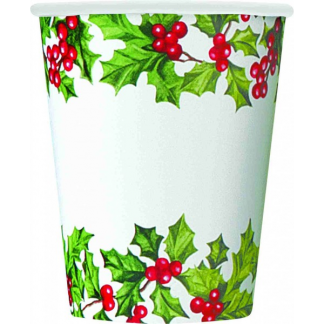 Holly Garland Cups (8)