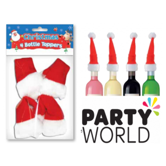 Santa Hat Bottle Toppers (4)
