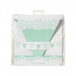 Talking Tables Vintage Pastel Green Lace Bunting