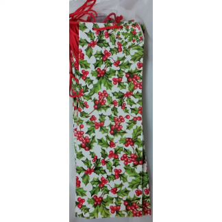 Christmas Holly/Mistletoe Wine Gift Bags (12)