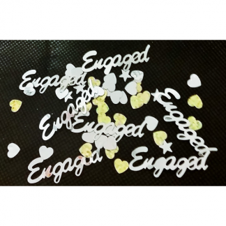 Engaged Silver and Gold Confetti (14g)