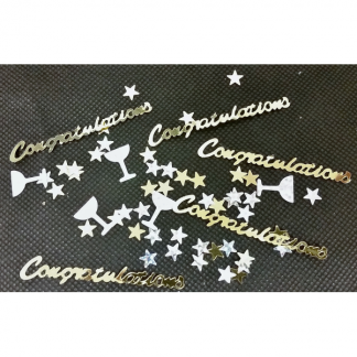 Congratulations Gold and Silver Cocktail Confetti