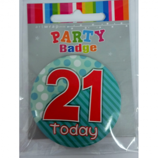 21st Green/Red Badge