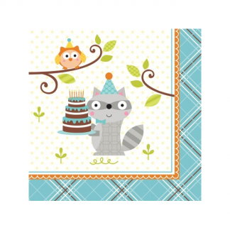 Happi Woodland Beverage Napkins (16)