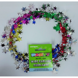 Star Metallic Multicolour Wire Garland (6m)